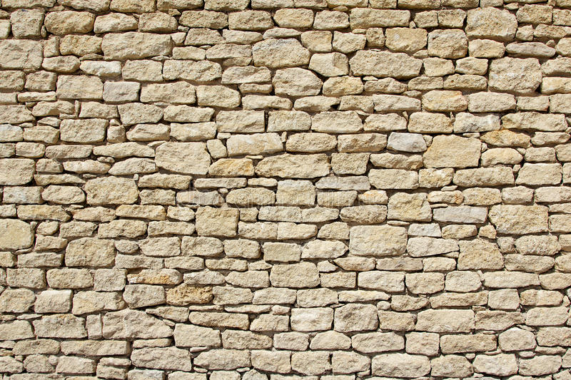 Stone wall background. Provencal dry stone wall background royalty free stock photography