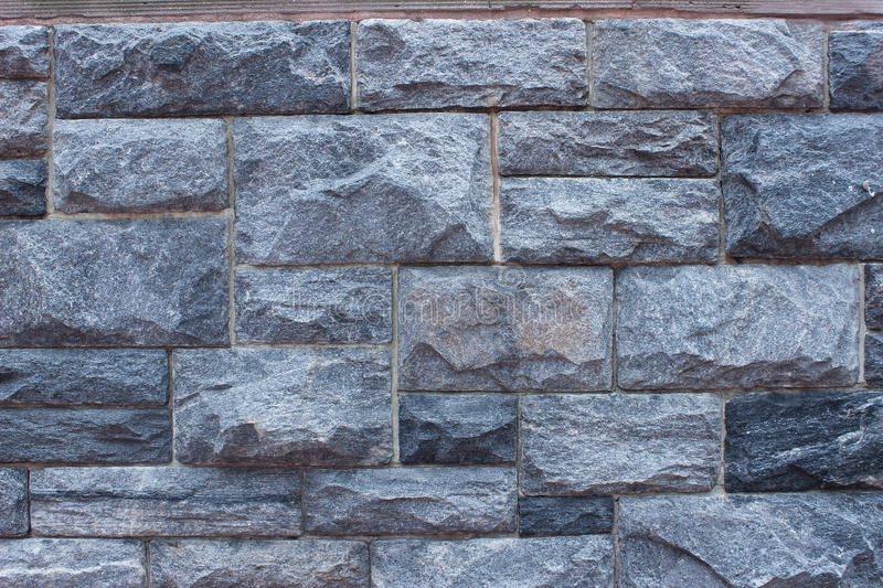Stone Wall Background. Blue Gray Stone Wall Background stock photo