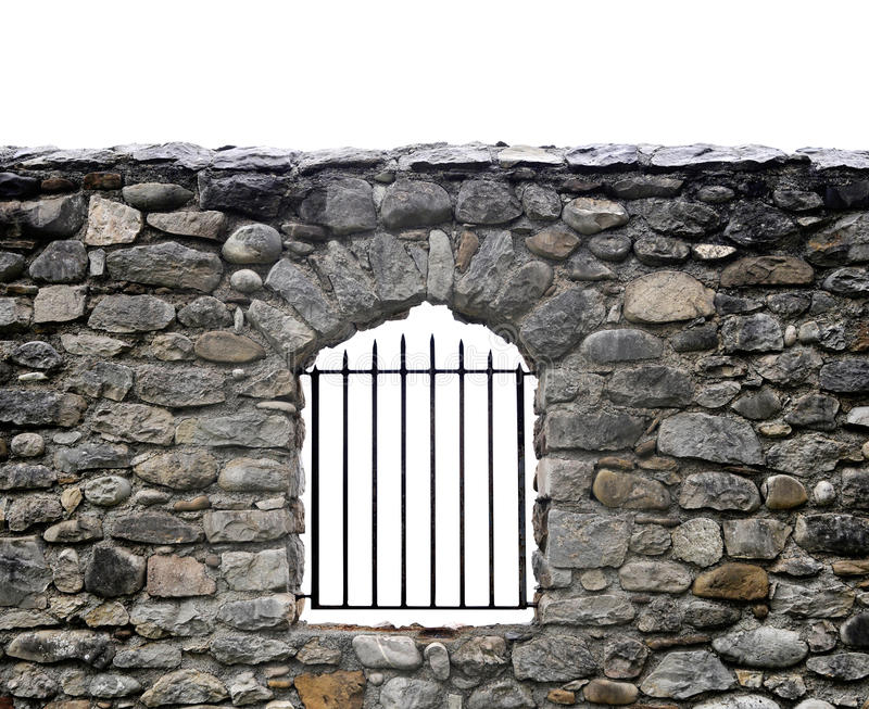 Download Stone wall and bars stock image. Image of stone, bars - 24926849