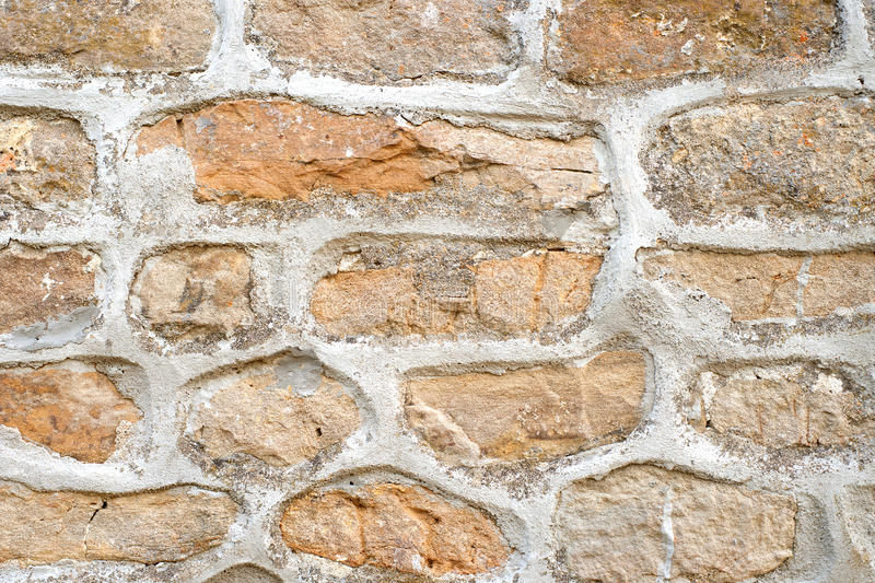 Stone wall with cement royalty free stock photo