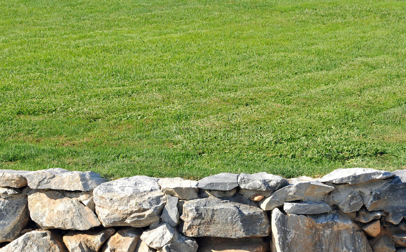 Download Stone Wall With Grass Royalty Free Stock Image - Image: 16932176