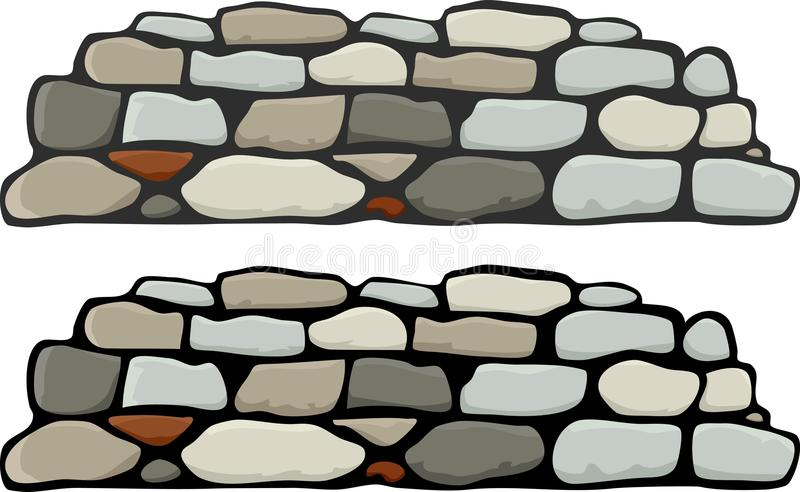 stone wall i stock vector illustration of close natural 16151694 rh dreamstime com brick stone wall clipart old stone wall clipart
