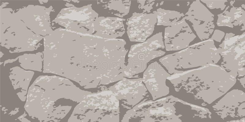 Stone wall. Masonry of stones. Vintage background. Vector illustration eps-10 royalty free stock image