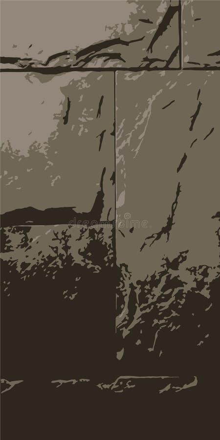Stone wall. Masonry of stones. Vintage background. Vector illustration eps-10 stock images