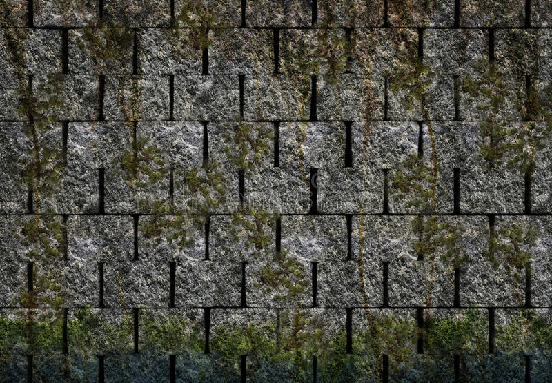 Stone wall royalty free illustration