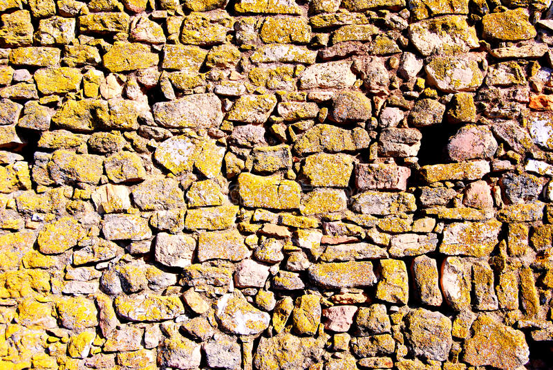 Stone Wall. A old stone wall that resist the time royalty free stock photography