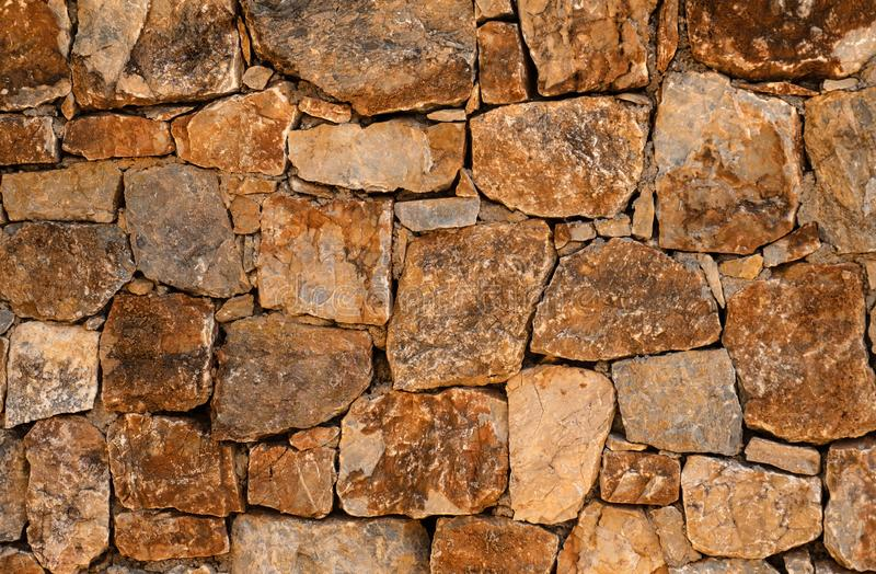 Stone wall. Part of a stone wall, for background or texture stock photography