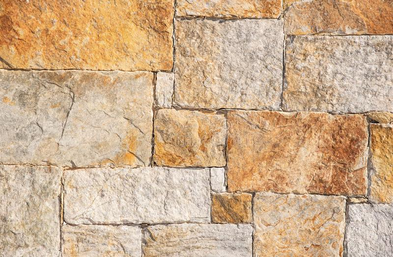 Stone wall. Part of a stone wall, for background or texture stock image