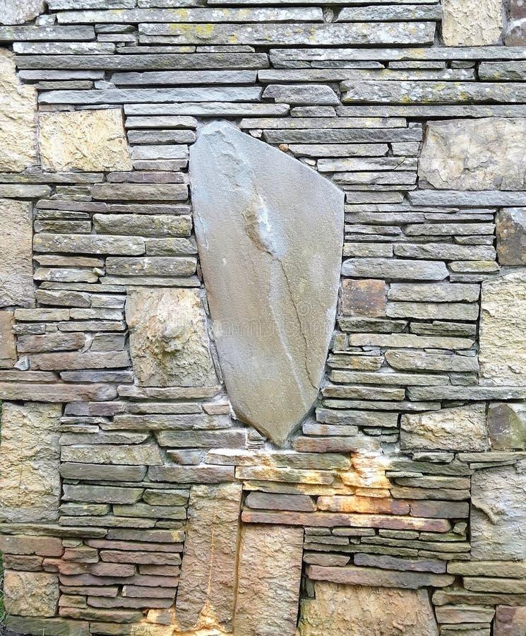 Stone wall, Provincetown, Massachusetts royalty free stock image