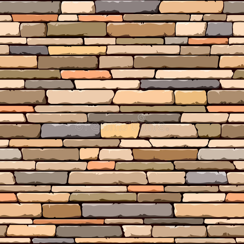 Stone wall. Seamless pattern. royalty free illustration