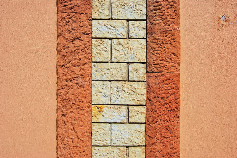 Stone wall. Stones and bricks on the stone wall texture royalty free stock images