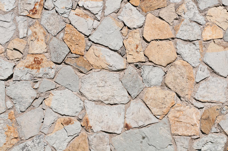 Stone Wall Texture. Photo of a stone wall texture royalty free stock photo