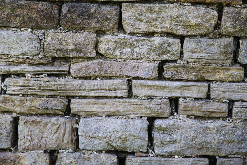 Stone Wall Texture. A grey, dry stone wall texture stock photos