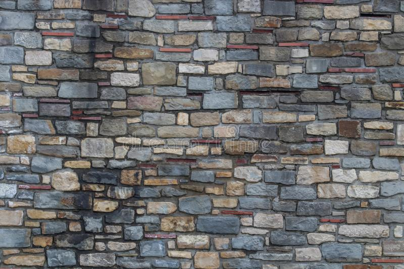 Stone wall texture. Grey stone texture. This image was taken in Veliko Tarnovo, Tsarevets medieval Fortress royalty free stock image