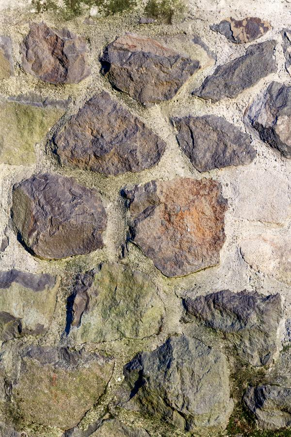Stone wall texture pattern, rocks closeup, background royalty free stock images