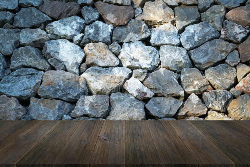 Stone wall texture with wood terrace with world map stock photo stone wall texture background surface natural color with wood terrace with world map gumiabroncs Gallery