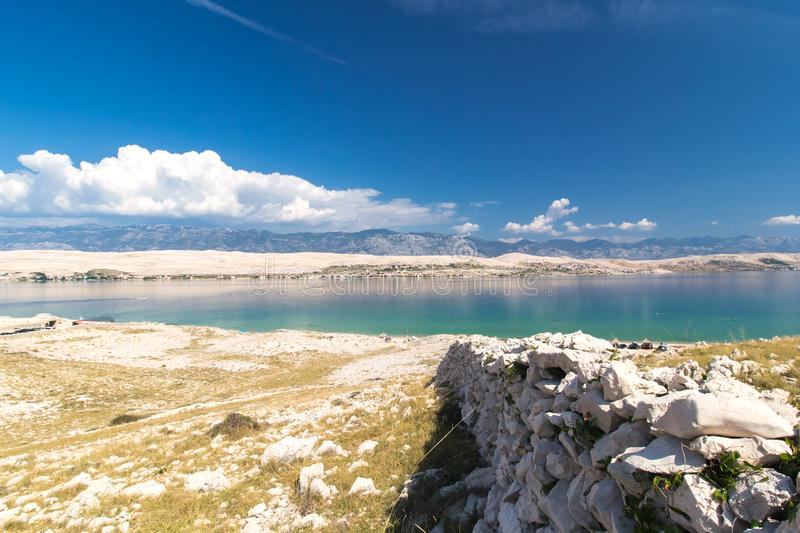 Stone Walls on the beautiful Island of Pag, Croatia royalty free stock photos