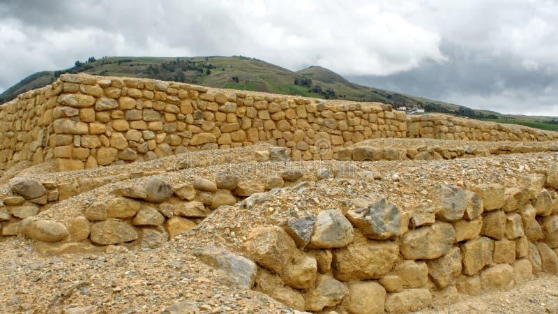 Stone walls at Ingapirca. Stone walls at the ruins of Ingapirca, outside of Cuenca, Ecuador stock images
