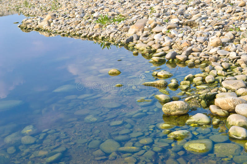 Stone and water royalty free stock image