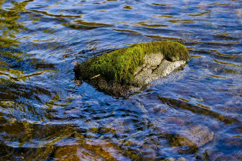 Stone and water. stock photos