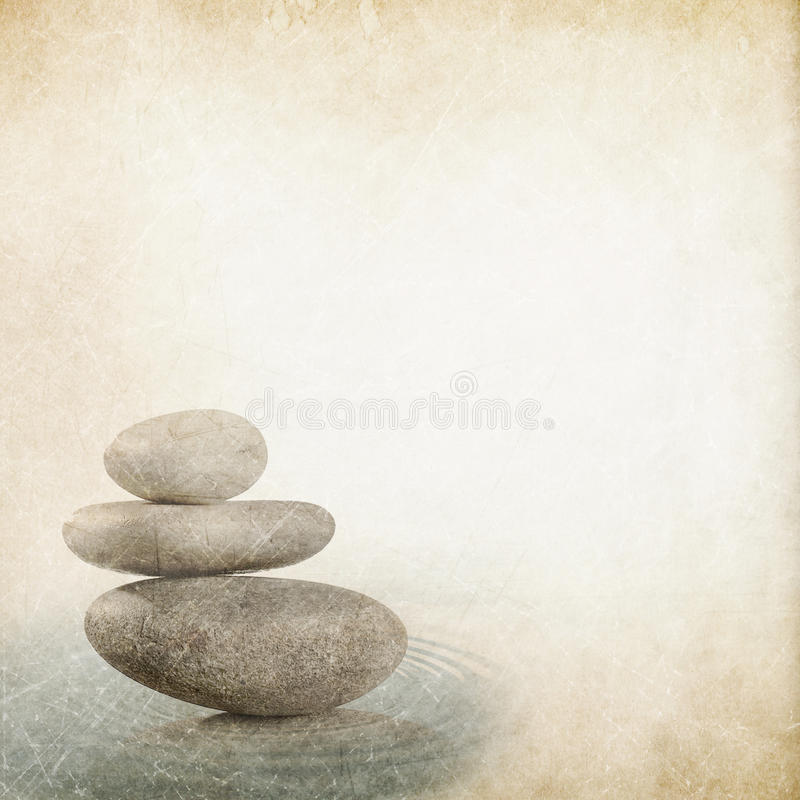 Stone with water reflection royalty free illustration