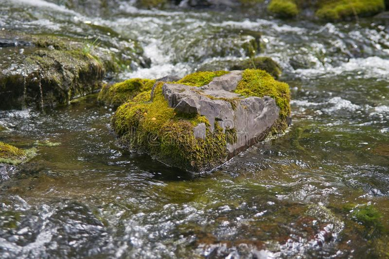 Stone and water 1. stock photography