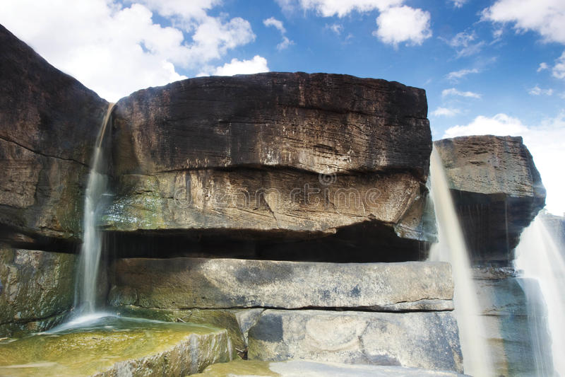 Stone waterfall royalty free stock image