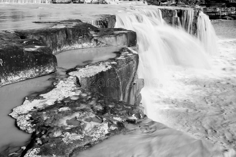 Stone waterfall stock photo