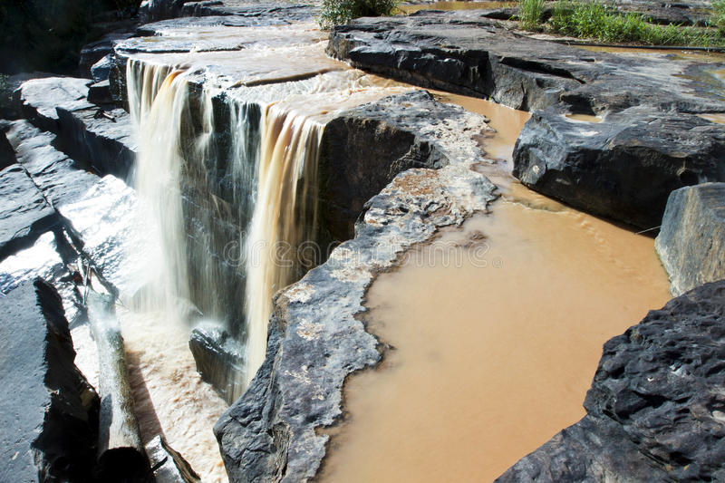 Stone waterfall stock photography