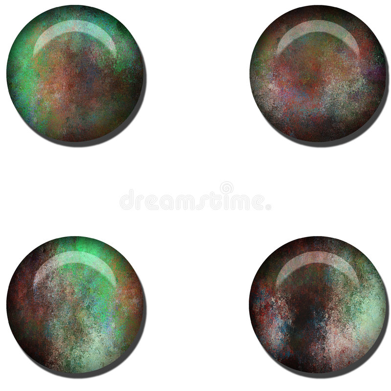 Stone Web Buttons. Gem Stone Like Web Buttons vector illustration