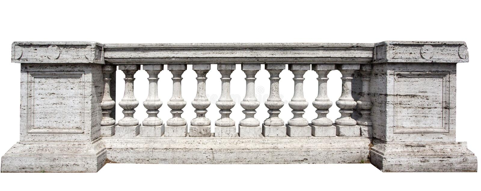 Stone White Baluster. Close Up of Stone White Baluster Withclipping path royalty free stock photos