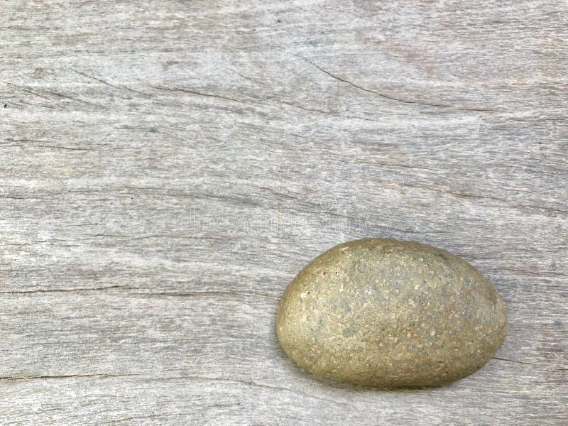 The stone on wood stock photo