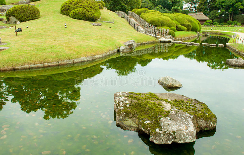 Stone zen path royalty free stock images