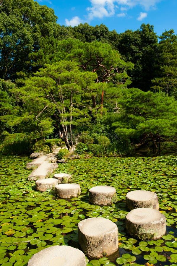 Stone zen path royalty free stock photography