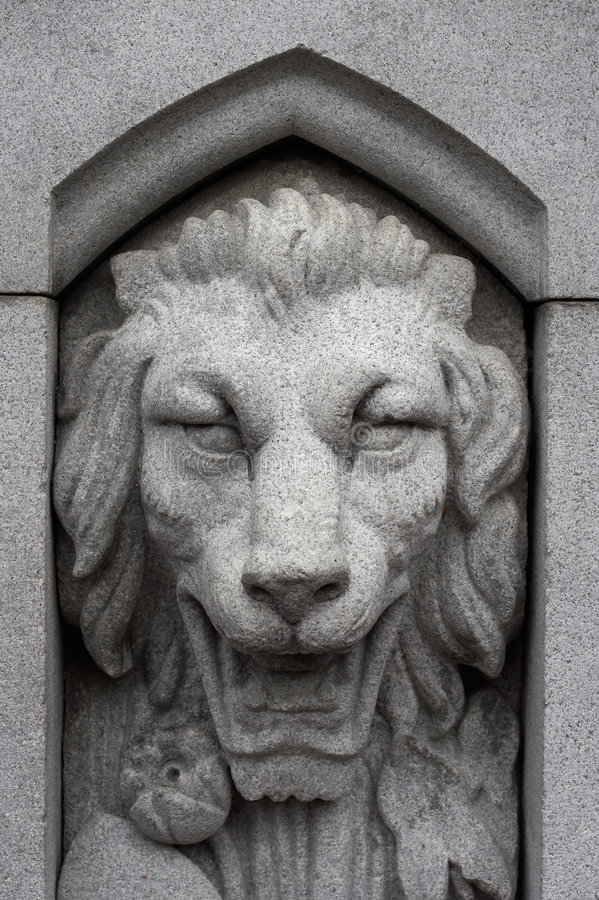 Download Stoned Lion stock photo. Image of carve, fountain, jungle - 703188