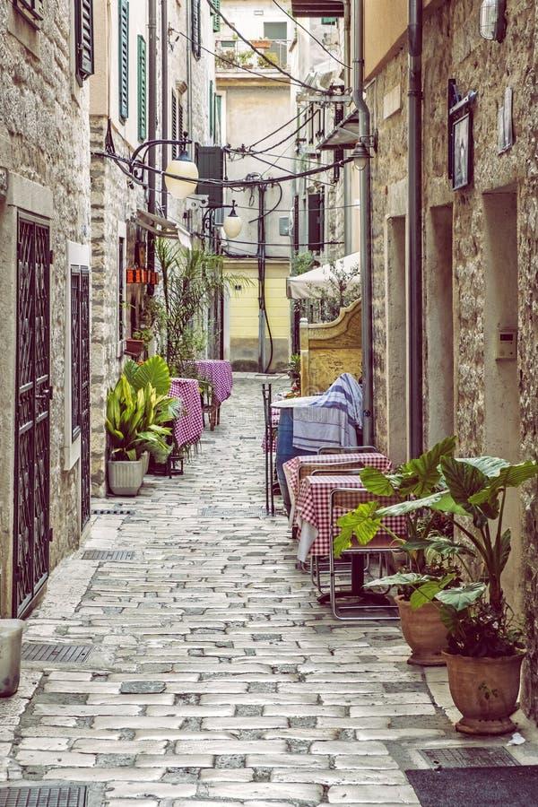 Stoned street, Sibenik, Croatia royalty free stock images