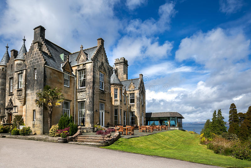 Stonefield Castle, Scotland stock images