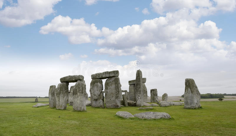 Stonehedge. Legendary neolithic monument made using stones transported from Wales stock photo