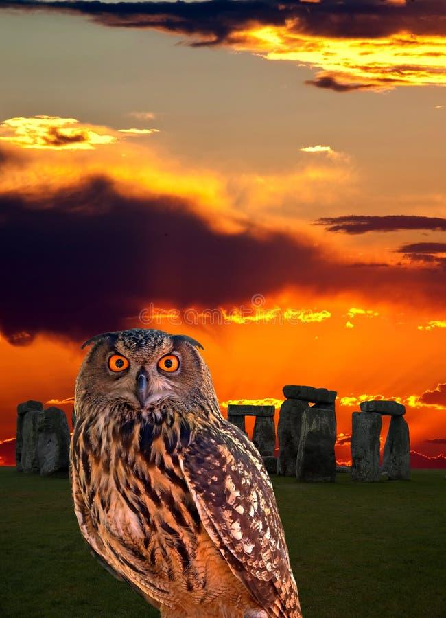 stonehenge сыча тайны стоковая фотография rf