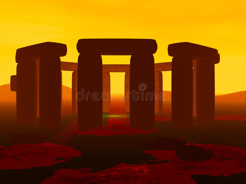 Stonehenge stock illustratie