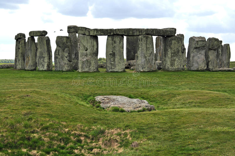 Stonehenge. Monoliths on a bright day stock photos