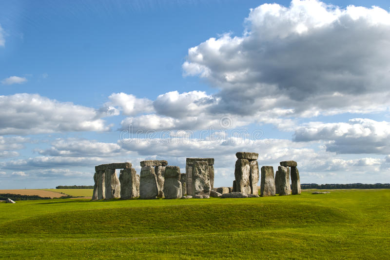 Stonehenge. A photo of the Stonehenge ancient monument with the sky in frame royalty free stock photography