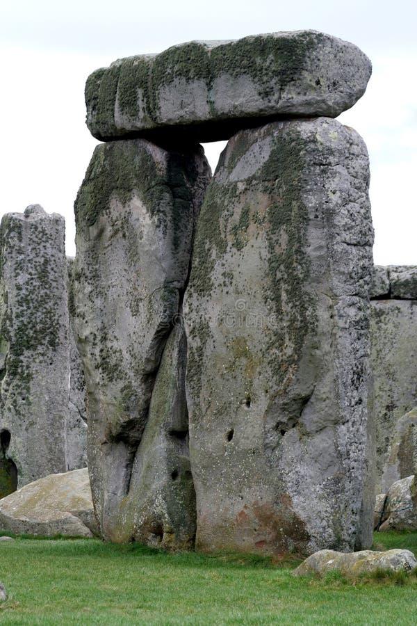 Stonehenge. Close up of ancient rocks in Wiltshire, England on the Salisbury plain stock photo