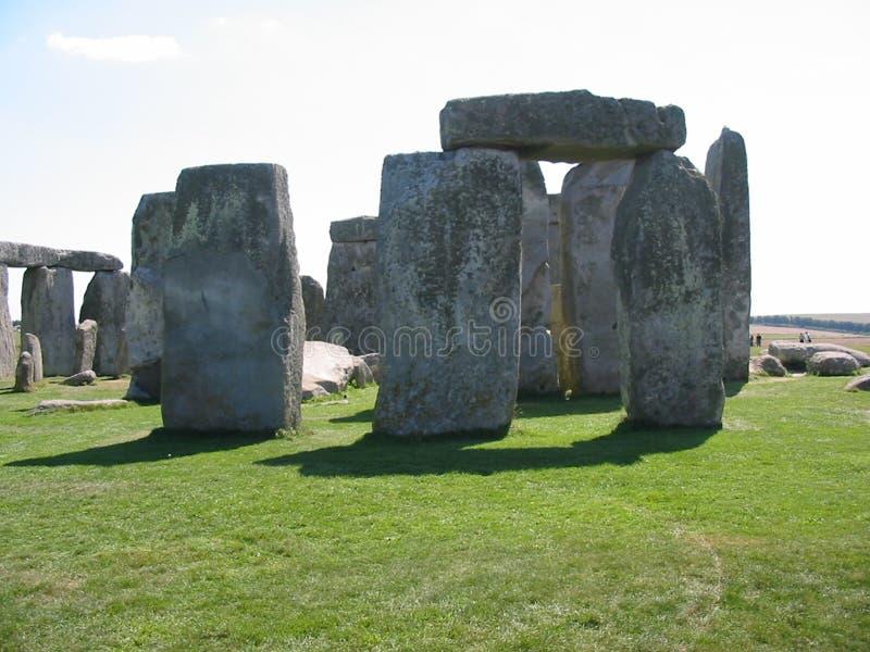 Stonehenge in agosto fotografia stock