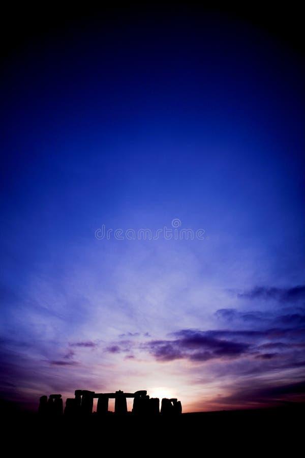 Stonehenge al tramonto fotografie stock libere da diritti
