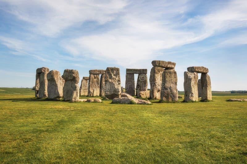 Stonehenge an ancient prehistoric stone monument near Salisbury, UK, UNESCO World Heritage Site. Stonehenge an ancient prehistoric stone monument near Salisbury stock photography