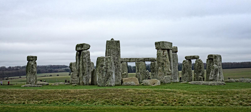 Stonehenge antyczny prehistoryczny kamienny zabytek blisko Salisbury, Wiltshire, UK fotografia stock