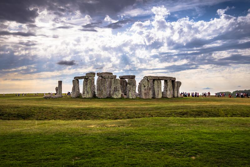Stonehenge - Augusti 07, 2018: Fornminne av Stonehenge, England royaltyfria foton