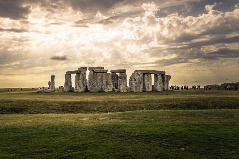 Stonehenge - Augusti 07, 2018: Fornminne av Stonehenge, England arkivbilder