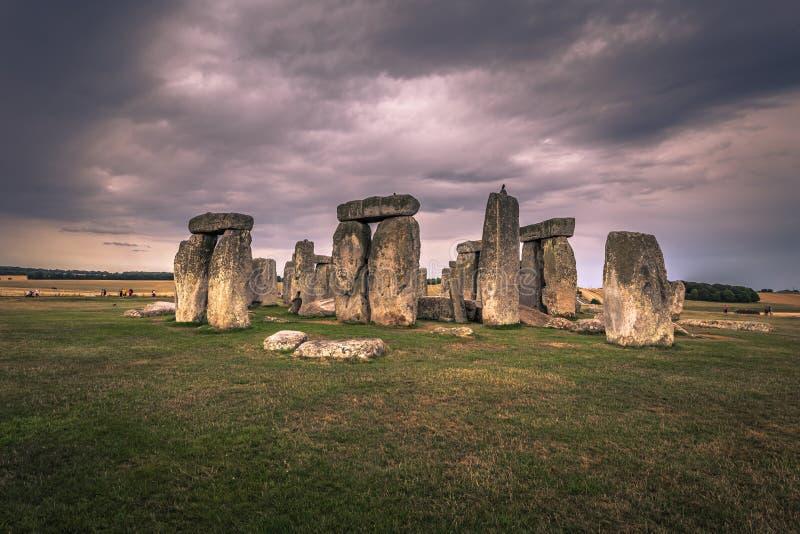 Stonehenge - Augusti 07, 2018: Fornminne av Stonehenge, England arkivbild